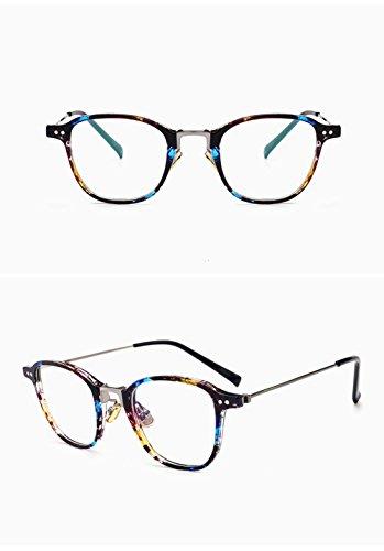 Z&HA Optische Gläser Transparente Linsen Platz Full-Frame Ultra-Light Retro-Brille Nicht Verschreibungspflichtige Klare Linse Brillengestell Vintage Nerd Brille Für Frauen Männer,Twilight