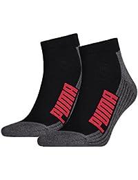Puma Cushioned Quarter 2P–anatomique unisexe 2 paires de chaussettes