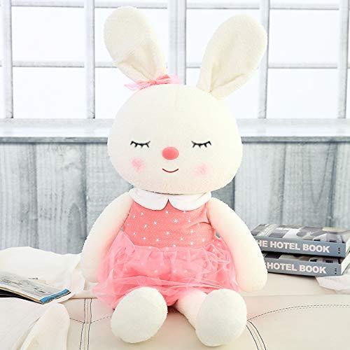 Samt Plüsch Spielzeug Benutzerdefinierte Puppe Unternehmen Maskottchen Firmenlogo, Um Benutzerdefinierte Kaninchen Geschenke Zu Kartieren 80cm Rosa schielen Lächeln Schatz Kaninchen - Unternehmen Store-kissen