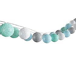 VICCO Lichterkette Cotton Balls Girlande verschiedene Farbvarianten erhältlich 310 cm (Jungen)
