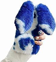 حافظة فرو البقرة الملونة من Mylne لهاتف سامسونج جالاكسي S20 بلس، غطاء ألماس للفتيات المرأة سوبر لينة في الشتاء