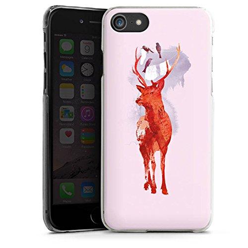 Apple iPhone X Silikon Hülle Case Schutzhülle Hirsch Art Rot Hard Case transparent
