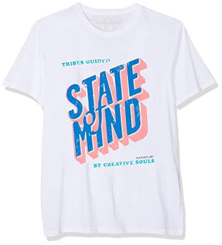 Napapijri Herren SARJA Fantasy T-Shirt, Mehrfarbig F40, Large (Herstellergröße: L)