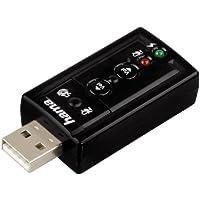 HAMA Scheda Audio 7,1 Surround, USB, Nero - 2000 Karaoke