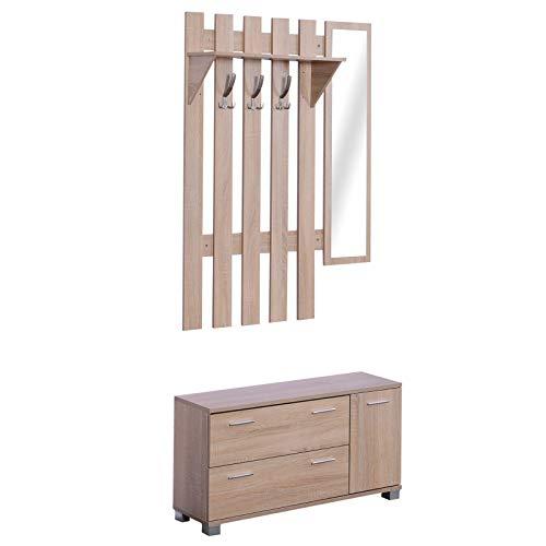 HOMCOM 3 EN 1 Conjunto Muebles Entrada Recibidor Pasillo