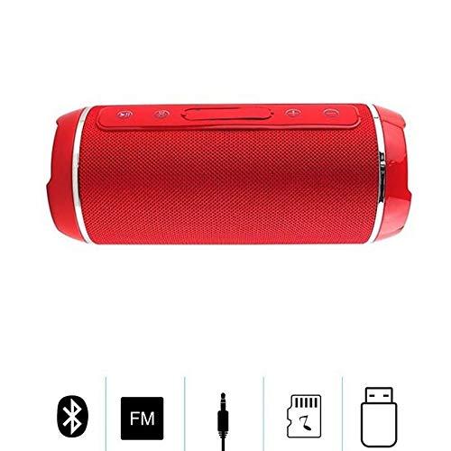 XTCMGZK LautsprecherDrahtloser Bluetooth-Lautsprecher im Freien Tragbare wasserdichte Boombox Stereo-Subwoofer Bass Slim Column-Unterstützung TF USB AUX Für tragbare Laptop-Lautsprecher, Rot Slim-serie Subwoofer