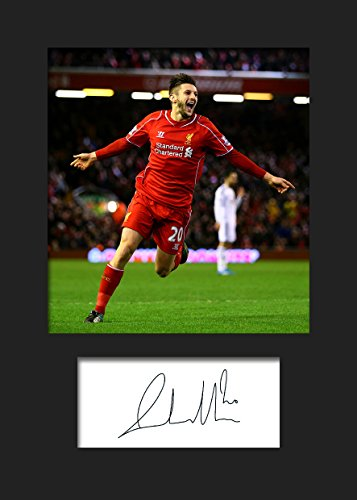 ADAM LALLANA - LIVERPOOL Signed Mounted Photo A5 Print