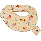 Baby Grow Cotton Fabric Feeding/Nursing Pillow Baby Mother Feeding Pillow Newborn Portable Pillow Perfect Gift For Baby Shower (Ivory)