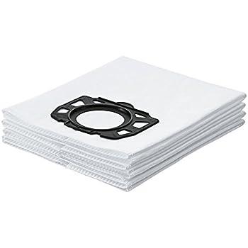 Kärcher Sachet filtre ouate accessoire pour les aspirateurs multifonctions eau et poussières WD 4, WD 5, WD 6, WD 4290, 5200 M, 5300 M et 5600 MP