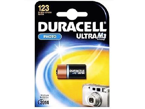 Duracell CR123 A Pile alcaline Ultra – Duracell CR123 A Batterie?: Appareil photo photo-lithium Long Life DL123 A 3 A 3 V (utilisée dans de nombreuses alarmes Antivol) (dcr123 a DL123 A)
