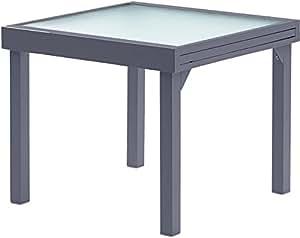 Table jardin Modulo 90-180cm (Gris) Gris