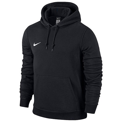 Nike Men Team Club Hoodie - Black/Black/Football White, Small