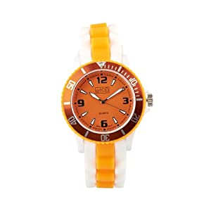 Eton 3014J-OR – Reloj analógico Unisex de Silicona Naranja