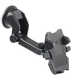 Callstel Kfz Handyhalter: Kfz-Smartphone-Armaturenbrett-Halterung, 360°-Teleskop, One-Touch (Kfz Smartphone Halter)