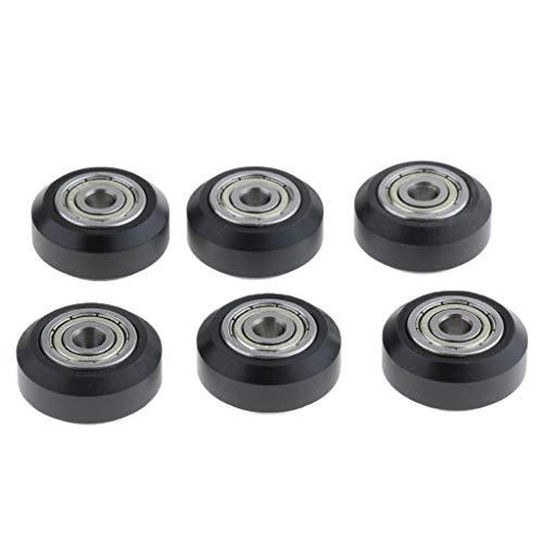 perfk 6X Kunststoff Runde Riemenscheibe Wheel Rad Rolle Ersatzteile mit V Nut für Creality CR10S 3D-Drucker
