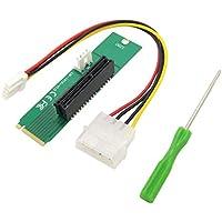 Sannysis PCI-E 4X hembra a NGFF M.2 M clave convertidor adaptador macho