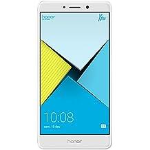 """Honor 6X - Smartphone libre de 5.5"""" (lector de huellas, 3 GB RAM, 32 GB ROM, EMUI 4.1 compatible con Android M, Full HD 1080p, Kirin 655 octa core, cámara 12 MP + 2 MP AF, frontal 8 MP), plateado"""