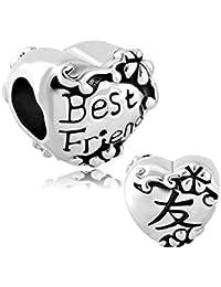 Sug Jasmin Best Friend Charm BFF Friendship Beads For Bracelets ze0hl1gDn