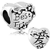 Sug Jasmin Best Friend Charm BFF Friendship Beads For Bracelets ly6p8ba3cg
