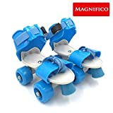 MAGNIFICO® 3 & 4 Wheeler Inline Skating XL Size Adjustable All Pure PU