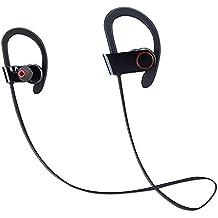 Coio Auriculares Bluetooth Inalámbrico Running Deporte,Auriculares Estéreo de Alta Fidelidad Auricular de Sudor Auriculares de Cancelación de Ruido para Gimnasio, Ejercicio, Deporte,Ejecutando, Micrófono para Teléfonos Móviles Inteligentes y Otros Dispositivos (Negro)