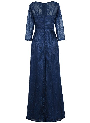 Bbonlinedress Robe de cérémonie Robe de mère de la mariée en dentelle col en V avec manches Rose