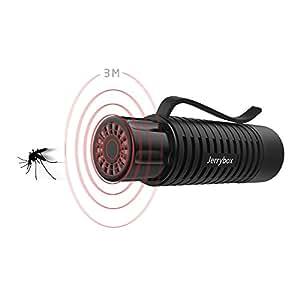 Jerrybox Repellente per Zanzare Portatile, Tecnologia ad Onde Ultrasoniche, Sicuro, Leggero e Portatile, JB-MR01