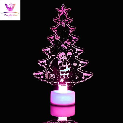 SUCES LED Baum Nachtlicht Bunte Weihnachtsbaum Farbe ändern Licht Lampe Weihnachten Zuhause Dekoration Vier Gruppen