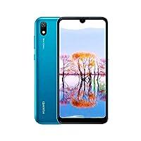 هاتف محمول هواوي واي 5 2019 ثنائي شرائح الاتصال مع ذاكرة 32 جيجابايت وذاكرة رام بسعة 2 جيجابايت، الجيل الرابع ال تي اي، ازرق ياقوتي