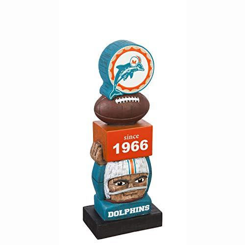 Team Sports Amerika Miami Delfine Vintage NFL Tiki Totem Statue