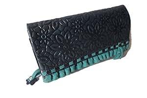 """Portefeuille porte-monnaie femme portmonnee «mONOCHROME """"taj wood & scherer cuir besonderes design bicolore"""