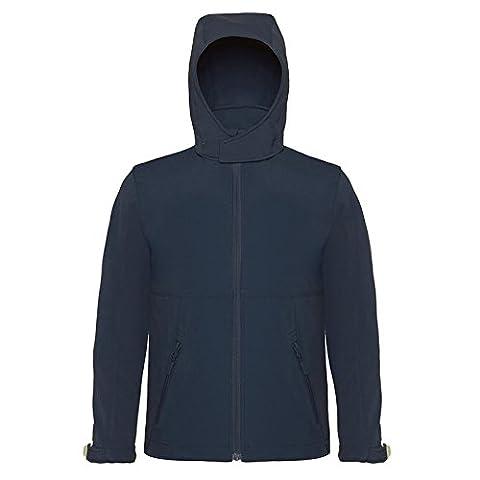 B&C Collection - Sweat-shirt à capuche - Moderne - Homme - bleu - 44