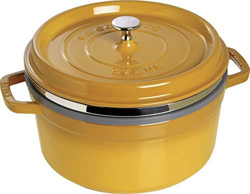 Staub 1133812 casseruola tonda a vapore, 26cm, colore giallo senape