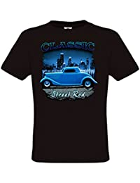 Ethno Designs - Classic Street Rod - Hot Rod T-Shirt pour Hommes - Old School Rockabilly Vintage Retro Style - regular fit