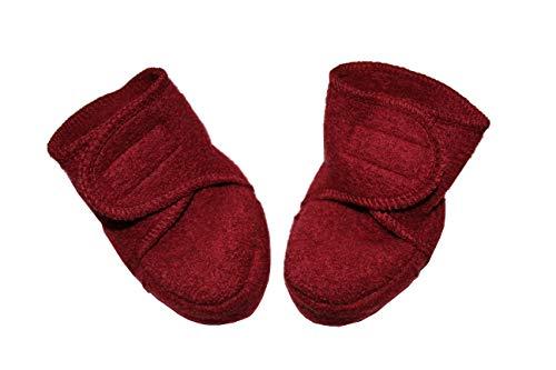 Disana Walk-Schuhe aus 100% Merino-Schurwolle (01 (4-8 Mon.), Bordeaux)