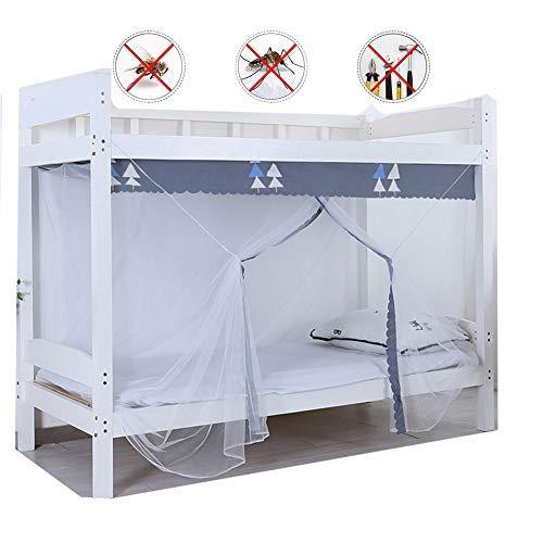 YSA Moskitonetz für Kinderbett, zusammenklappbare Hoop Sheer Bettpfosten Baldachin Twin Full Queen King geeignete Kinderbetten, Set, Lace Net Canopies, weiß, D (Weißer Hoop Baldachin)