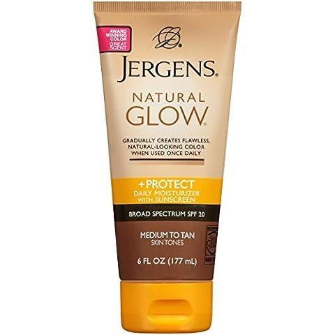 Jergens - Natural Glow & Protéger Hydratant Quotidien Spf 20 Moyennes De Tan 180 Ml