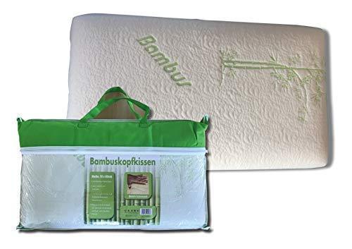 80x40cm Bambus Wellness Allergiker Kissen Kopfkissen Multifunktionskissen mit Soft Memory Schaum