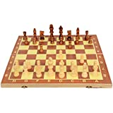 Ohotnik Chess Wooden Chess Set with 32 Pieces Board Game Size 13 Inches