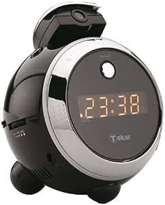 Tokaï LRE152N Radio Réveil Projecteur Affichage LED Tuner PO / FM Multi Jog Rotatif Noir