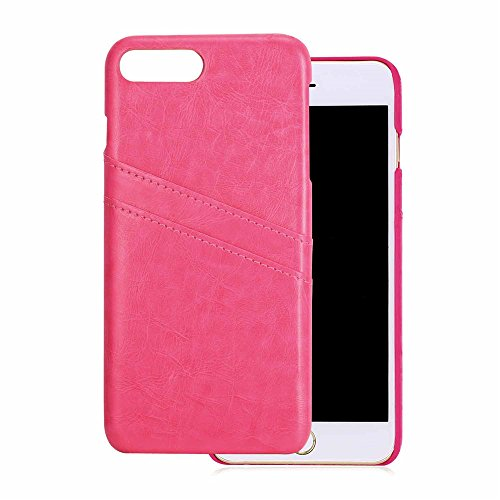 iPhone 7 Case, Bandmax Fashion Comfortable Environmental Leather Card Slots Shock/Scratch Resistant Protective Bumper Case Cover for iPhone 7 (Black) Rosa