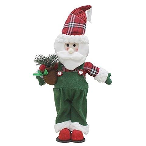 JANLY Santa Claus décoration bonhomme de neige ornement ange vacances petit cadeau rouge (Vert)