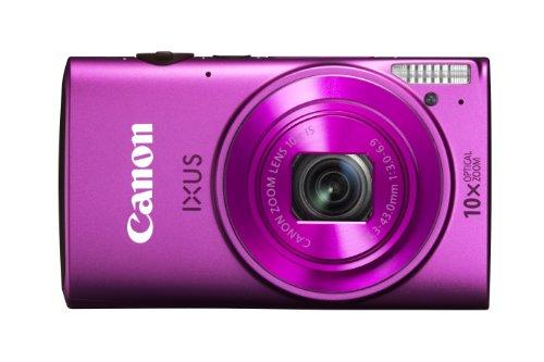 Canon IXUS 255 HS Digitalkamera (12,1 MP, 10-fach opt. Zoom, 7,5cm (3 Zoll) Display, Full-HD, bildstabilisiert) pink Canon Digital Ixus Zoom