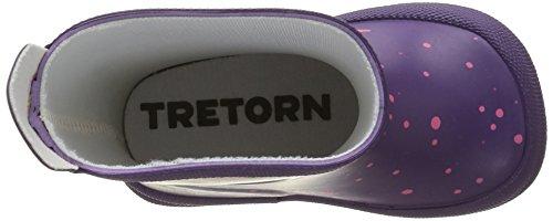 Tretorn Sticky Dots, Bottes mi-hauteur non doublées fille Violet - Violett (Purple 095)