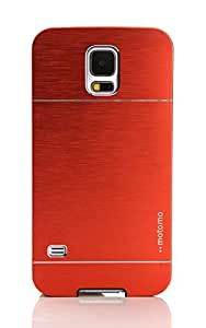 CZap Motomo Full Metal Protective Hard Back Case Cover for Samsung Galaxy S5 V - Red
