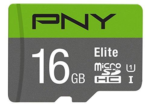 PNY Elite Microsdxc Karte-Uhs-i, U1, bis zu 85Mb/Sec Schwarz 16 GB (Sd-karte 16gb Pny)