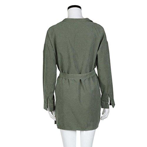 Zolimx Mode Frauen Dünne Jacke Windbreaker Outwear Wolljacke Mantel - 7