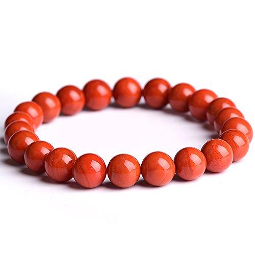 J.Fée Stein Armband,Rote Perlen Armband,Edelstein Armband,Natürlichen Kristall Armband,Stretch/Elastisch Armband,Yoga Armband,Herren Armbänder Perlen Armband für Damen Frauen und Herren