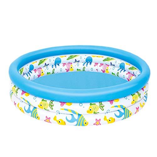 Bathtubs Bañeras inflables Bebes Bañera Inflable, Bañera para niños Piscina de Pesca Plegable Piscina para bebés Piscina Redonda del océano Piscina (Tamaño : 122cm*25cm)
