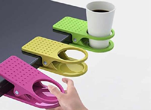 YingYing Home Drink Cup Holder Clips to Table Desk Laptop Coffee Drinks Holder Clip